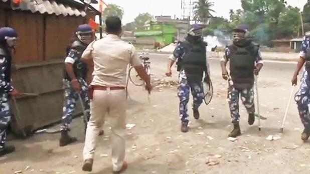 West bengal violence loksabha election, रायगंज में वोटिंग के बीच हिंसा, बीजेपी-टीएमसी कार्यकर्ता आपस में भिड़े