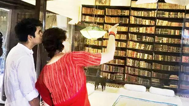 priyanka gandhi, प्रियंका गांधी ने अपने बच्चों को कराई इतिहास की सैर, अचानक आनंद भवन का किया दौरा