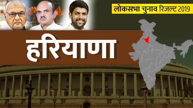 loksabha-election-2019, Haryana Loksabha Result 2019: BJP ने किया क्लीन स्वीप, रोहतक भी नहीं बचा पाई कांग्रेस