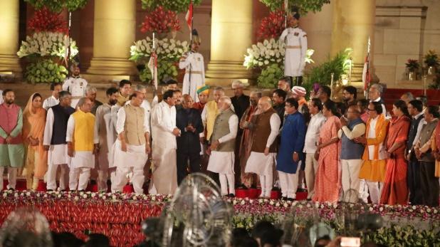 Narendra Modi, मोदी कैबिनेट में कुल 58 मंत्रियों ने ली शपथ