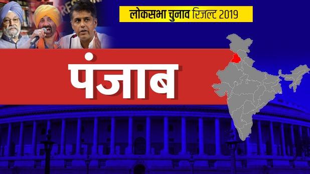 Loksabha Election 2019, पंजाब लोकसभा Result 2019: पंजाब में कांग्रेस का दबदबा, AAP को मिली सिर्फ एक सीट