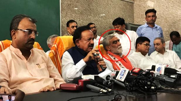 ashwini kumar chaubey, मुजफ्फरपुर में बच्चे की मौत पर प्रेस कॉन्फ्रेंस में ऊंघते नजर आए मंत्री अश्विनी कुमार