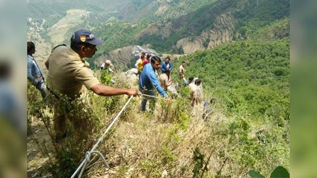 masoori accident, मसूरी में दर्दनाक हादसा, पर्यटकों की कार खाई में गिरी बच्चे सहित चार की मौत