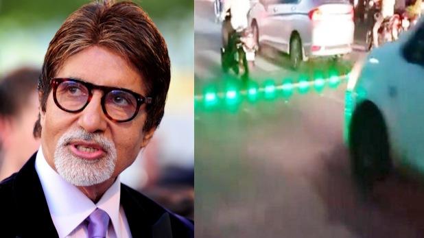 amitabh bachchan, ट्रैफिक पुलिस ने सिग्नल पर लगाई LED लाइट, अमिताभ बोले- सुपर आइडिया