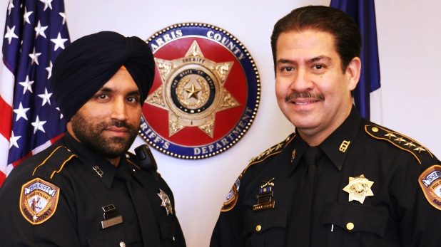 Sandeep Dhaliwal, Sandeep Dhaliwal US, Sandeep Dhaliwal America, Sandeep Dhaliwal Deputy Sherrif, Sandeep Dhaliwal Houston, US first Sikh officer, America First Sikh officer