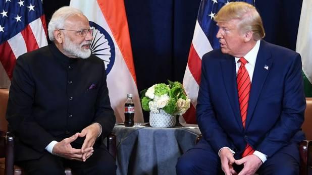Donald Trump with PM Modi