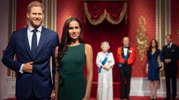Prince harry and Meghan Markle, मैडम तुसाद म्यूजियम में शाही घराने से अलग हुआ हैरी और मेगन का पुतला