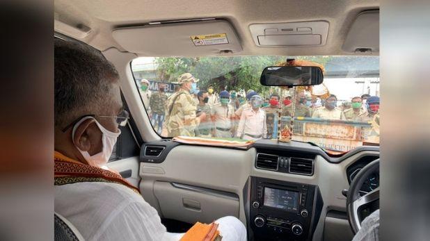 bjp chief dilip ghosh, चक्रवात अम्फान का जायजा लेने जा रहे BJP चीफ को पश्चिम बंगाल पुलिस ने रोका