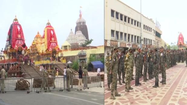 Jagannath Rath Yatra, पुरी में भारी सुरक्षाबल के बीच भगवान जगन्नाथ की रथ यात्रा शुरू, राष्ट्रपति-प्रधानमंत्री ने दी बधाई