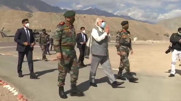 reactions on PM modi ladakh visit, 'सौगंध मुझे इस मिट्टी की, मैं देश नहीं झुकने दूंगा', पढ़ें, PM मोदी के Ladakh दौरे पर नेताओं के रिएक्शन