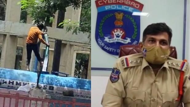 Hyderabad tanker driver washes feet, हैदराबाद: टैंकर में पीने का पानी भरते समय ड्राइवर ने धोए पैर, पुलिस ने दर्ज किया मामला