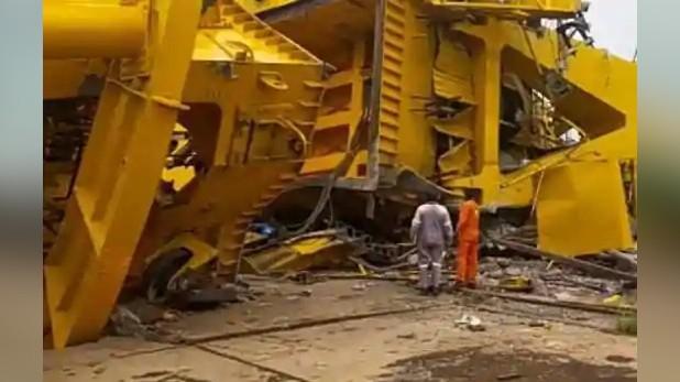 crane collapses Visakhapatnam, विशाखापत्तनम: हिंदुस्तान शिपयार्ड लिमिटेड में बड़ा हादसा, क्रेन टूटने से 11 लोगों की मौत