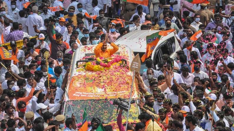 amit shah tamilnadu visit in vetrivel yatra