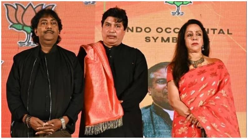 Bengal election 2021: बीजेपी ने लॉन्च किया 'भगवा झंडा लहराए' एलबम, हेमा  मालिनी बोलीं - बदलेंगे बंगाल की तस्वीर BJP launched song album for West  Bengal election, MP Hema malini present at