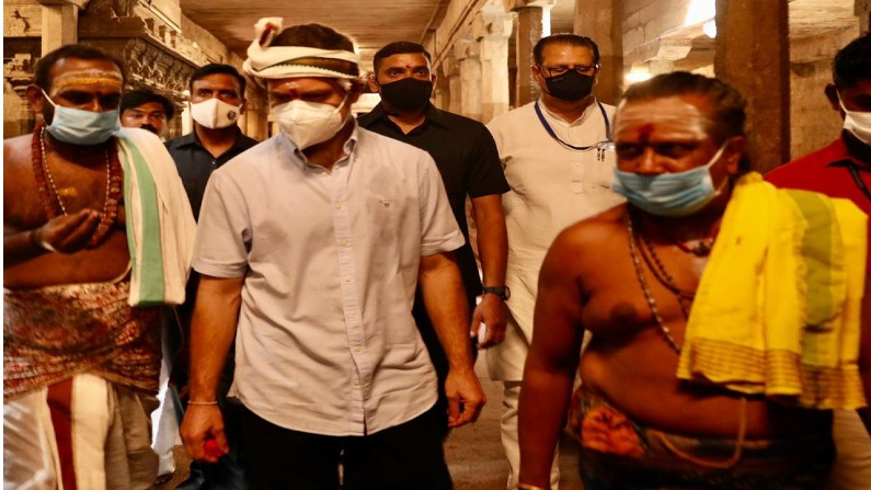 Rahul Gandhi Visits Arulmigu Nellaiappar Temple 2