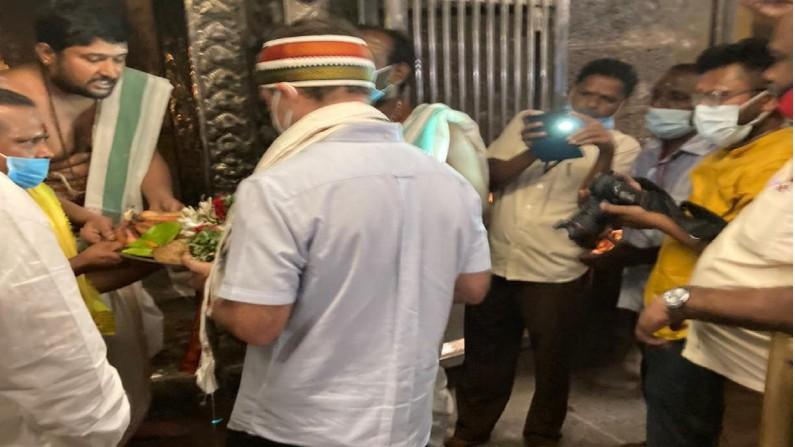 Rahul Gandhi Visits Arulmigu Nellaiappar Temple 3