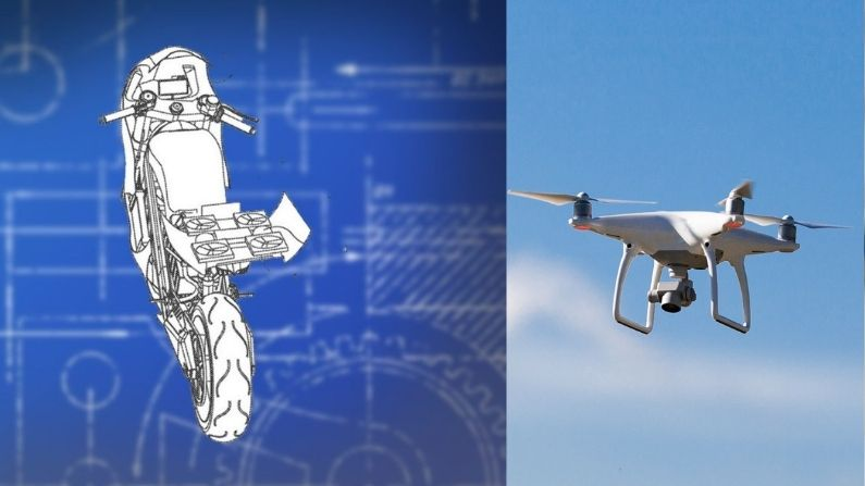 Honda's unique technology, now the drone will be tied on the motorcycle, one of your commands will fly in the sky