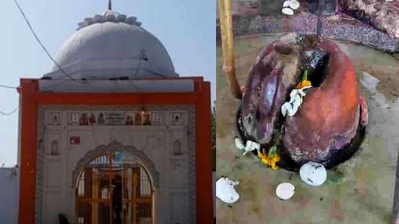 शास्त्रों में सप्ताह का हर दिन किसी न किसी देवी-देवता को समर्पित किया गया है. सोमवार का दिन महादेव की पूजा के लिए श्रेष्ठ माना जाता है. सोमवार के दिन महादेव के भक्त अपनी मनोकामनाओं की पूर्ति के लिए उनका व्रत रखते हैं और पूजा-पाठ वगैरह करते हैं. आज सोमवार के दिन हम आपको बताएंगे महादेव के ऐसे मंदिर के बारे में जिसके बारे में जानकर आप भी हैरान रह जाएंगे.  हम बात कर रहे हैं यूपी के मैनपुरी शहर के वाणेश्वर मंदिर की. ये मंदिर पुरानी मैनपुरी से सटे गांव नगरिया में है. कहने को ये छोटा सा मंदिर है, लेकिन बहुत पुराना है. साथ ही यहां के किस्से भी काफी दिलचस्प और हैरान कर देने वाले हैं. गांव नगरिया में होने की वजह से इस मंदिर को नगरिया मंदिर के नाम से भी जाना जाता है. सावन के महीने और महाशिवरात्रि पर इस मंदिर में यहां बड़े आयोजन किए जाते हैं और तमाम भक्त यहां आकर भगवान की पूजा-अर्चना करते हैं.  अपनी जगह से खिसकता है यहां का शिवलिंग वाणेश्वर मंदिर को लेकर मान्यता है कि यहां का शिवलिंग हर साल अपने स्थान से थोड़ा सा खिसक जाता है. यदि आप इस मंदिर में कदम रखेंगे तो आपको भी मंदिर में घुसते ही ऐसा नजारा दिखेगा जो आमतौर पर शिव मंदिरों में नहीं होता. आपने ज्यादातर शिव मंदिरों में शिवलिंग को घंटे के नीचे स्थित देखा होगा, लेकिन वाणेश्वर मंदिर का शिवलिंग घंटे से करीब दो फुट की दूरी पर स्थित है.  मंदिर के दरवाजे के बेहद करीब है शिवलिंग मंदिर में घुसते ही दरवाजे के बेहद नजदीक आपको ये शिवलिंग नजर आ जाएगा, मानो ये मंदिर के दरवाजे को पार कर जाना चाहता हो. खास बात ये भी है कि ये शिवलिंग देखने में बिल्कुल सामान्य नहीं है, शिवलिंग के बीच में एक मोटी दरार सी है जैसे मानो किसी ने इस शिवलिंग पर नुकीली चीज से प्रहार किया हो.  ये है शिवलिंग खिसकने की वजह मंदिर में शिवलिंग खिसकने को लेकर वहां के लोगों की मान्यता है कि करीब पचास से साठ वर्ष पूर्व गांव में एक बार सूखा पड़ा था. तब ग्रामीणों ने बारिश के लिए शिव जी की काफी पूजा अर्चना की. लेकिन बारिश नहीं हुई. एक दिन गुस्से में आकर मंदिर के पुजारी भोंगड़ानन्द ने शिवलिंग में कुल्हाड़ी से कई प्रहार कर दिए. बताया जाता है कि शिवलिंग में मौजूद मोटी दरार उसी कुल्हाड़ी के प्रहार का प्रमाण है. यहां के लोगों का मानना है कि जिस दिन इस ये घटना घटी, उसी दिन से ये शिवलिं