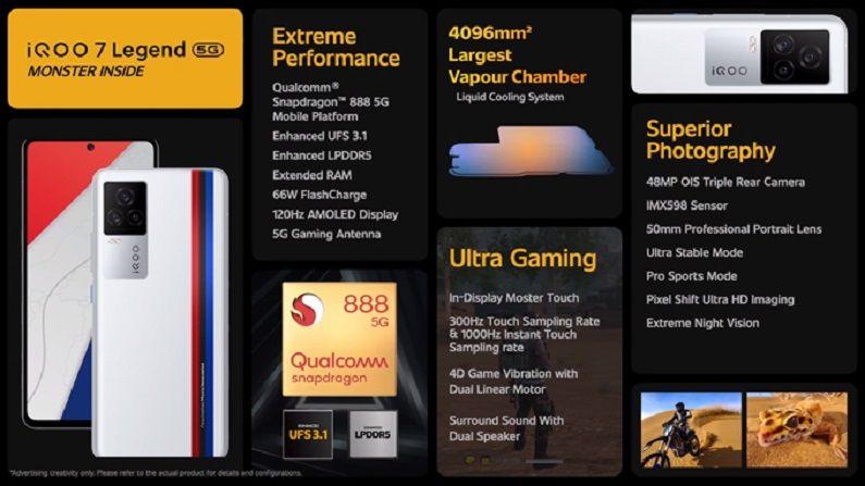 Iqoo 7 Legend Features, iQoo 7, iQOO 7 features, iQOO 7 legend, iQOO 7 series, iQoo 7 smartphone india launch, technology News in Hindi