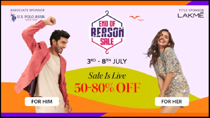 Myntra Event End of Region Sale : Myntra का धमाकेदार Sale, खरीदारी करने का अच्छा मौका