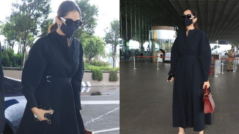 Spotted: प्रेगनेंसी की खबरों के बीच एयरपोर्ट पर नजर आईं सोनम कपूर, देखिए एक्ट्रेस की तस्वीरें